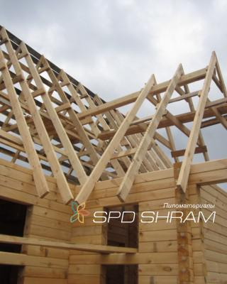 Hanging wooden rafters
